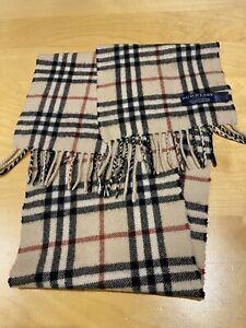 Kids unisex Burberrys beige nova check 100% cashmere scarf