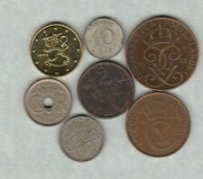 More details for 7 coins from scandinavia dated 1924 to 1999 in a used condition
