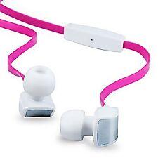 ba9b08b1133 New OEM T-Mobile White Pink Tangle Free Flat Corded 3.5mm Premium Stereo  Headset