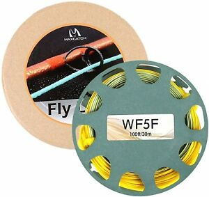 Maxcatch Gold Fly Line Weight Forward WF 2F-9F 80-90F With 2 Welded Loops