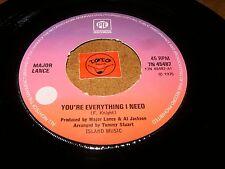 MAJOR LANCE - YOU'RE EVERYTHING I NEED  / LISTEN - XO MODERN SOUL POPCORN