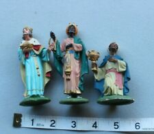 Vintage Fontanini Three Kings Spider Mark Depose Italy Christmas 4 inches tall