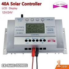 MPPT Flexible 40A Solar Panel Charge Controller 12V/24V Battery Regulator LCD
