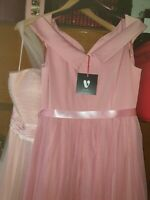 Ladies Pink Occassion Dress Size 14 From Very Brand New With Tags