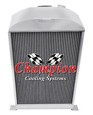 3 Row Ace Champion Radiator for 1933 1934 Ford Cars Ford V8 Conversion