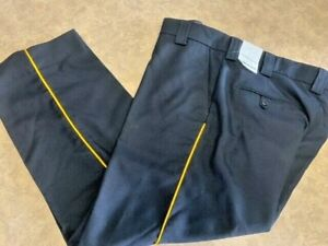 Men's ~BLAUER 4- Pocket Wool Blend Pants - 8560 with Yellow Strip 36x29~ New