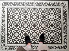 Liberty Diamond Black White Victorian Moroccan Wall Floor Tiles 20 x 20cm