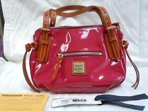 NWT Dooney & Bourke Small Nina Raspberry Pink PVC and Leather Handbag Rare!
