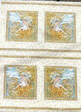 Fairy Squares Golden fabric 112 x 112 cm-each square is approx 18cm sqr(20 sqs)
