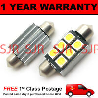 2X RED CANBUS NUMBER PLATE INTERIOR SMD LED BULBS 30 36 39 42 44MM FESTOON OC