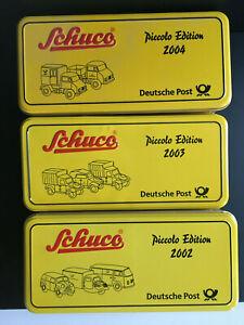Schuco Piccolo Neu OVP 3x SET Deutsche Post 2002 / 2003 / 2004 Unimog Kübelwagen