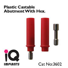 10 Castable Abutments With Hex Dental Implants Implant Lab Prosthetic NEW