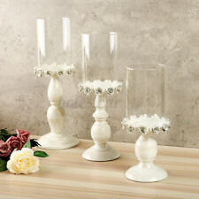 White Carving Flower Candlestick Candle Holder Candelabra Home Wedding  + #