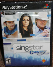 PLAYSTATION 2 new SINGSTAR COUNTRY ps2 FACTORY SEALED rated t GAME