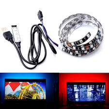 3.28ft USB Powered RGB 5050 LED Strip Lighting for TV Computer Background Light