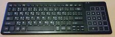 TOSHIBA ENGLISH NORWEGIAN SWEDISH FINNISH DUTCH WIRELESS WIFI TOUCHPAD KEYBOARD