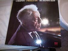 """LP 12"""" CHOPIN PRELUDI OP. 28 ARTUR RUBINSTEIN PIANIST RCA RED SEAL LM1163 EX/EX+"""