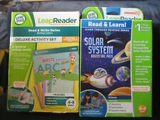 LeapFrog LeapReader~LETTERS w/Mr Pencil Deluxe Activity /Solar System Adventures