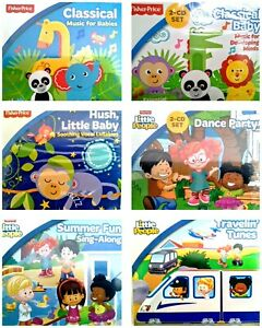 Fisher Price Baby & Little People Baby Toddler Sing-Along CDs CHOICE - 6 NIP!