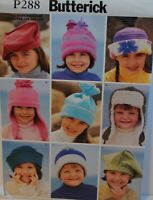 SIMPLICITY PATTERN HATS 6 DESIGNS GIRLS/' SIZE XS-S-M-L #1682