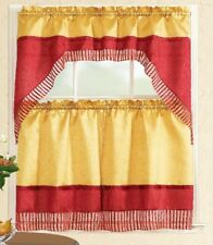 """Renat© 3Pc Kitchen Curtain Swag and Tier Set, 36"""" Inch, By Mystique®"""