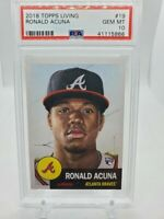 2018 TOPPS LIVING Ronald Acuna #19 Atlanta Braves RC Rookie PSA 10