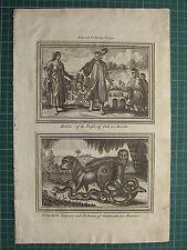 1771 stampa abitudini della gente di chili in America Serpenti & i Babbuini gautimala