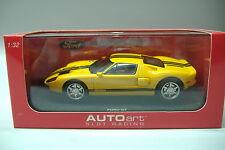 AutoArt 13082 analoges Rennbahnauto Slotcar Ford  GT gelb 1:32 NEU & OVP