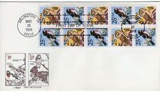 U.S. First Day Cover, Birds, Booklet Pane, Artmaster, Scott #2285b
