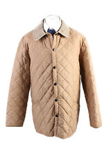 Vintage Barbour Eskdale Quilted Mens Coat Jacket Smart Size XL Cream - C1806