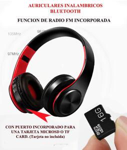 Auriculare Inalambricos Bluetooth Over The Ear Con Radio FM y Ranura MicroSD