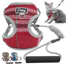 Cat Walking Jacket Harness&Leash with Foam Handle Adjustable Pet Puppy Dog Vest