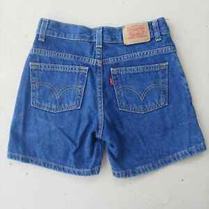 Vtg Levi's Relaxed Fit Regular Dark Wash Jean Shorts Kids Size 10 Actual 24x4.5