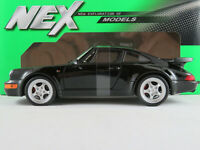 Welly 24023W Porsche 911 Turbo (1991) in schwarz 1:24 NEU/OVP