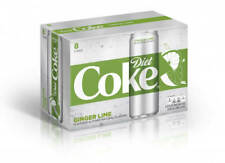 Diet Coke Ginger Lime Soda 8 Pack Coca Cola shipped fast.