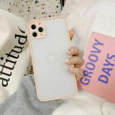 For iPhone 11 Pro Max X XR XS 8 7 6s Plus Clear Matte Soft TPU Bumper Case Cover
