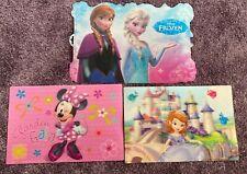 3 Disney Platzset Prinzessin Sofia die Erste -Minnie Maus -Frozen Eiskönigin