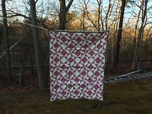 """""""BARBARA FRIETCHIE STAR""""  QUILT - HAND MADE - 33 X 41 IN - NEW - LOT Q103"""