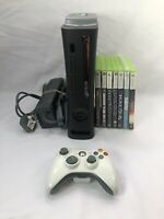 Microsoft Xbox 360 60GB Black Console Bundle with 1 controller & 7 games - Halo