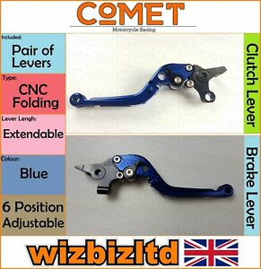 Yamaha FJR 1300 Como 2004-2016 [ Plegable Extensible Azul] [ Comet Raza Palancas