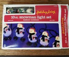 Snowman Christmas Light Set Indoor Outdoor 10 Count Clear Bulbs Model #LGF020410