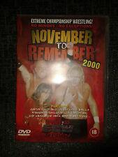 ECW November To Remember 2000 (DVD, 2001) 00 WWF WWE