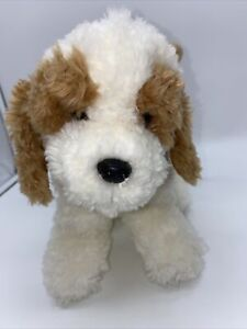 Russ Berrie UK Dog Zippered Plush Purse Handbag Brown White Puppy