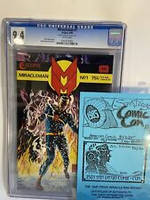 Miracleman 1 (Blue Certificate Edition) SDCC CGC 9.4 Signed Rare 1st Miracleman