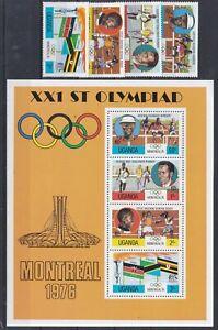 7922 Uganda Sommerolympiade 1976 postfrisch 141-44 + Block 2 (573)