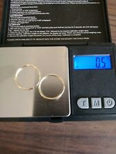 14 K. Yellow Gold Hoop Earrings, 0.5 Grams. Preowned Good Condition
