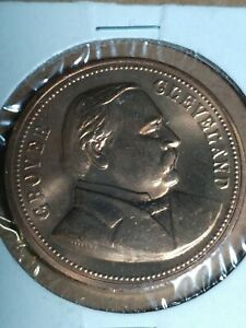 24th President Grover Cleveland Coin, Bronze w/ Protector Nice Condition + Look
