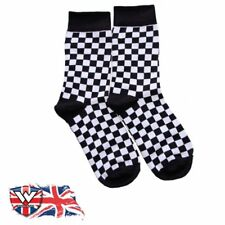 Warrior Retro 2 Tone Mens Check Vintage Socksteady Socks pack of 2 pairs Mod