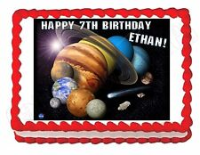 Solar System -Planets -Outer Space edible cake topper party decoration