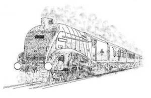 Steam Train Unmounted Rubber Stamp - SA-7183